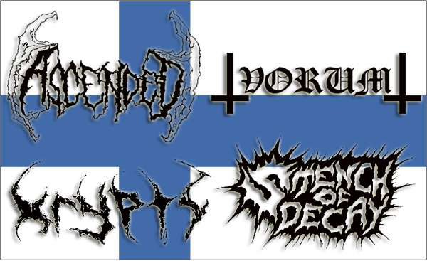 NEW WAVE OF FINNISH DEATH METAL: Vorum, Krypts, Ascended, Stench of Decay