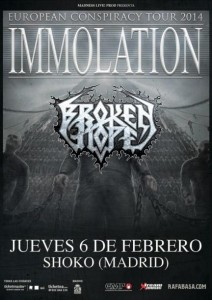 IMMOLATION + BROKEN HOPE
