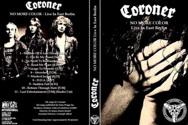 CORONER – No More Color – Live in East Berlin 1990 [Full show]