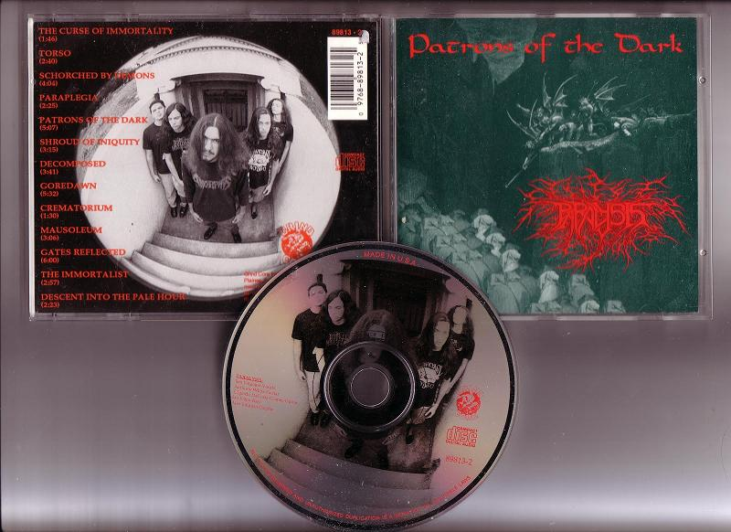 PARALYSIS- 1992- Patrons of the dark (front, back, cd)