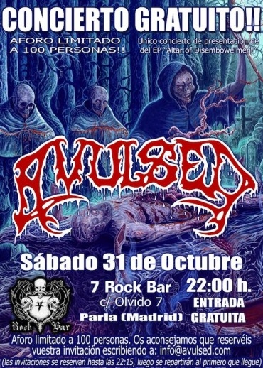 AVULSED – Parla, Madrid (spa), 7 Rock Bar (31.10.2015)
